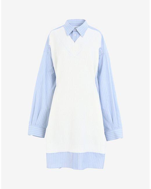 Maison Margiela Spliced ニット シャツドレス Blue