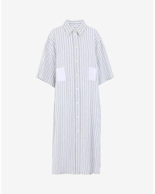 Maison Margiela ストライプ シャツドレス White