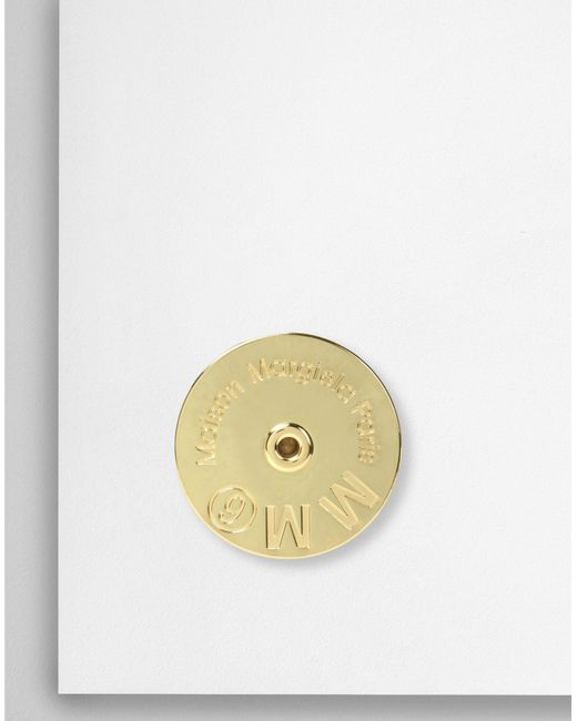 MM6 by Maison Martin Margiela - Metallic Mm6 Medallion Ring - Lyst