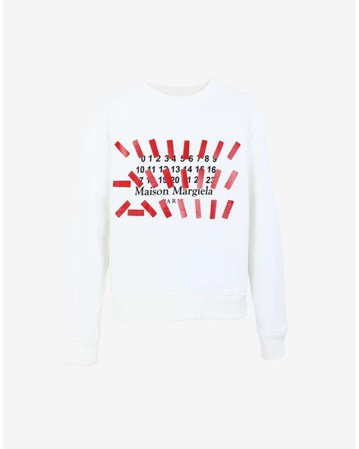 メンズ Maison Margiela Tapeプリント スウェットシャツ White