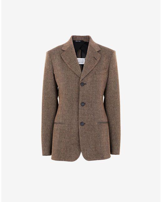 Maison Margiela シェブロン スーツ ジャケット Brown