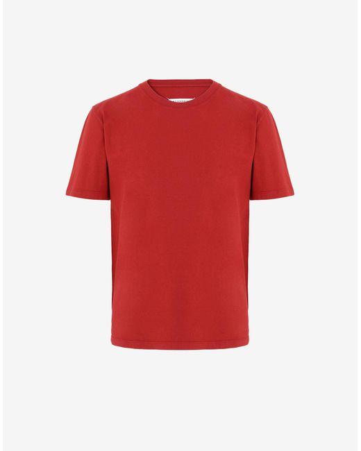 メンズ Maison Margiela ジャージー Tシャツ Red