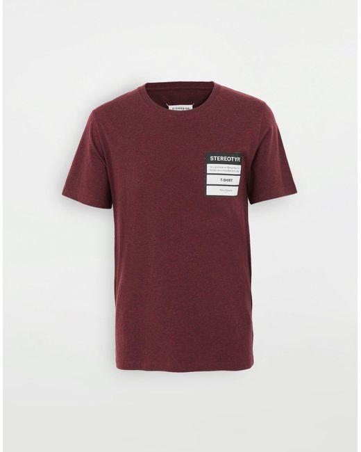 Maison Margiela T-Shirt Stereotype in Multicolor für Herren