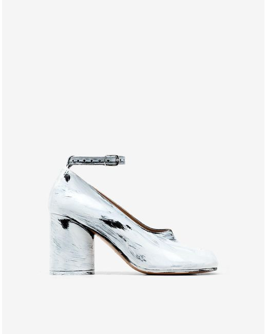 Women's White Tabi Mary-jane Court Shoes