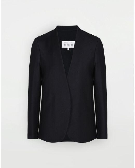 メンズ Maison Margiela カラーレス バージンウール ジャケット Black