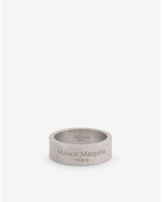 メンズ Maison Margiela ロゴ リング Metallic