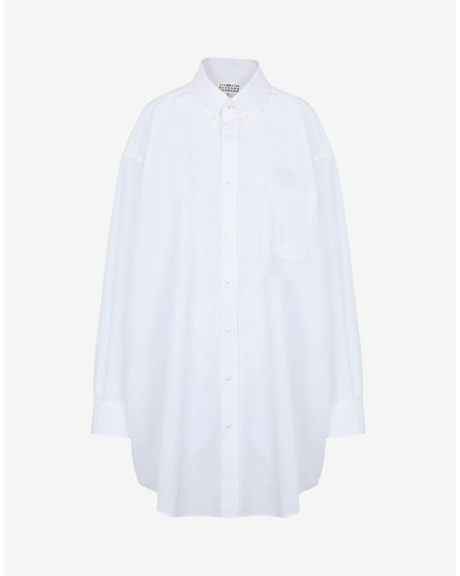 Maison Margiela オーバーサイズ ポプリン シャツ White
