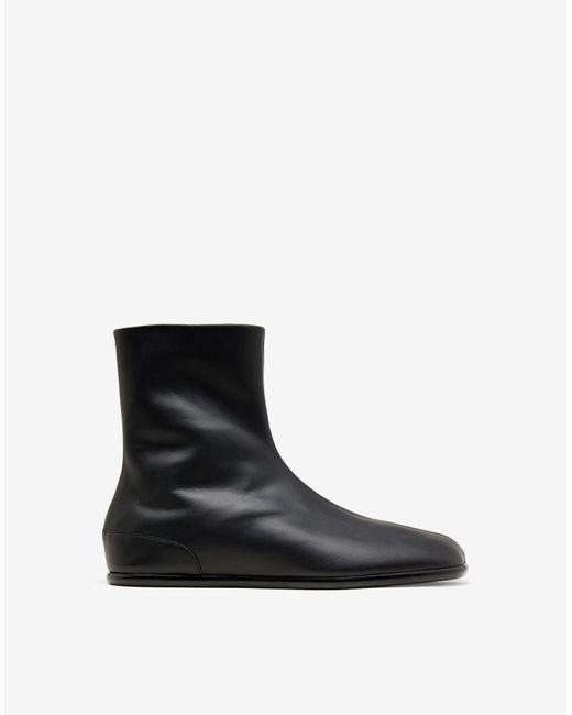 Maison Margiela Black Tabi Flat Ankle Boots for men