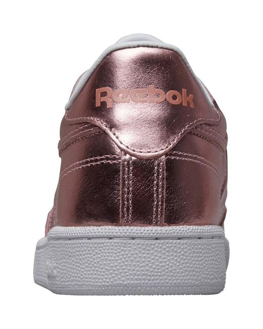 Reebok Leather Club C 85 S Shine Trainers Copperwhite Lyst