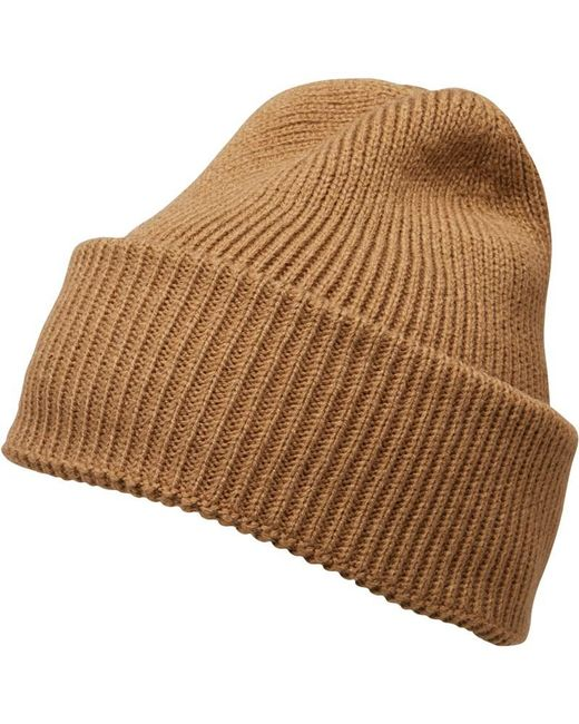 French Connection - Natural Plain Knit Beanie Camel for Men - Lyst 55556e27d6e