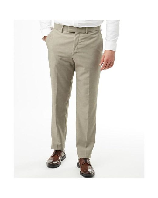 a48bb4cf0cb33 French Connection - Gray Plain Ticket Pocket Trousers Faun Melange for Men  - Lyst ...
