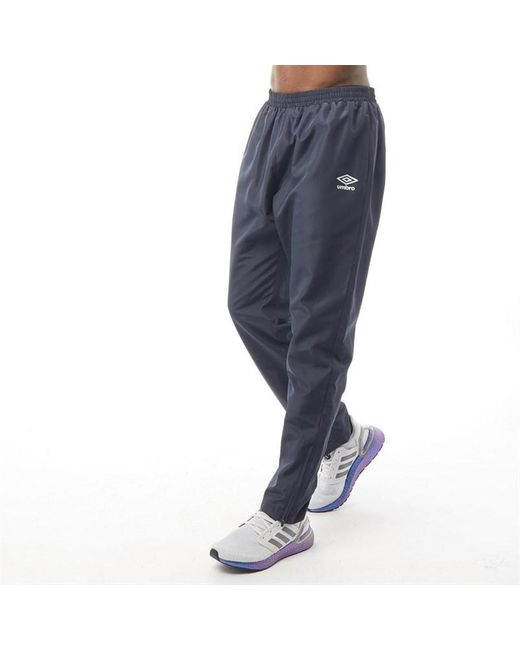 Umbro Blue Active Style Tapered Woven Pants Indian Ink/white for men
