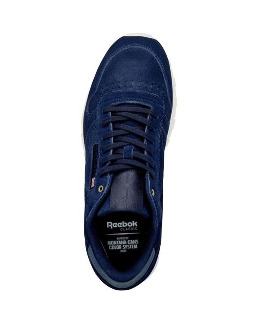 ... Reebok - X Montana Cans Collaboration Leather Trainers Blue Note chalk  for Men - Lyst ... ac68945a1