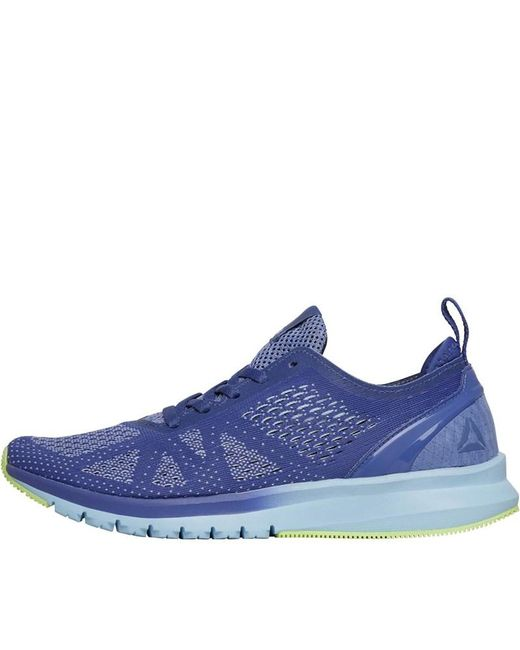 568398a6b13874 Reebok - Print Smooth Clip Ultraknit Neutral Running Shoes Lilac  Shadow fresh Blue electric ...