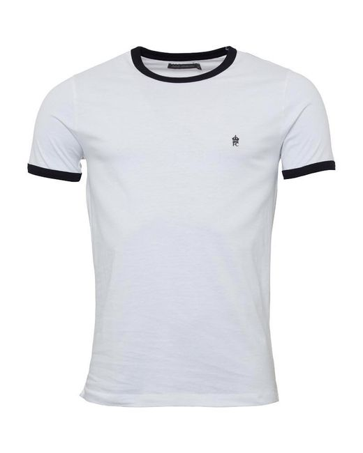 2f0ac8813 French Connection Fcuk Ringer T-shirt White in White for Men - Lyst