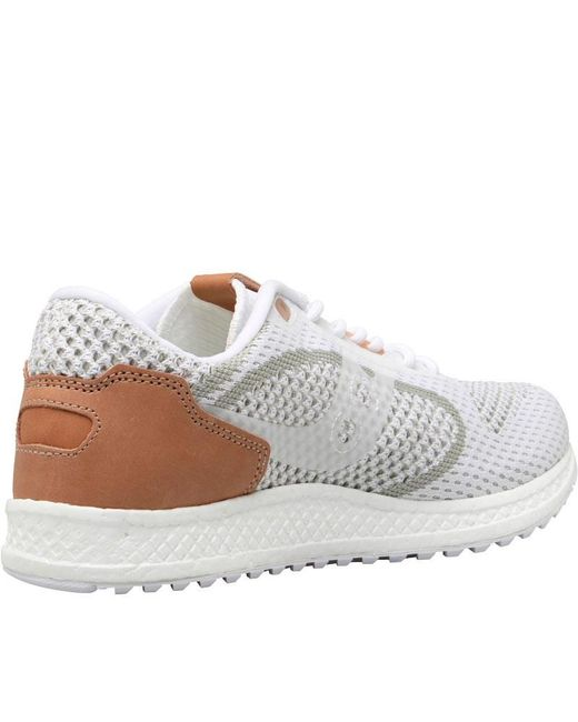 Saucony Grid 5000 Evr White Brown Running Shoes Lifestyle New Men Gym S70396-4