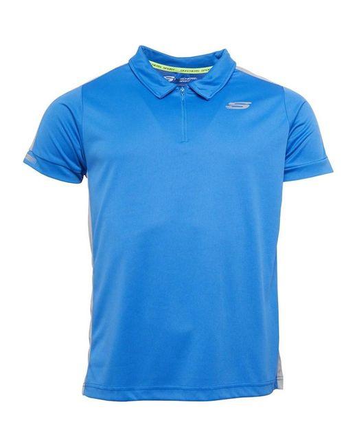 SKECHERS Polo Skechers Lucas Sports Bleu Skechers pour homme en coloris Blue