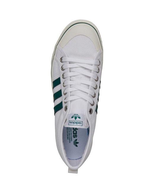 ... Adidas Originals - Nizza Trainers Footwear White collegiate Green off  White for Men ... ab994eada