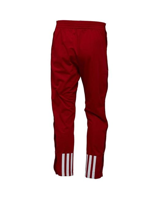 huge selection of 76a61 21406 ... Adidas - Ekit Snap Basketball Pants Power Redwhite for Men - Lyst ...