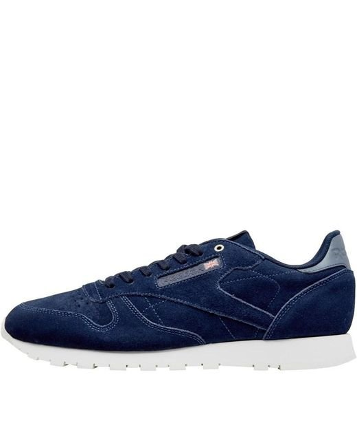 Reebok - X Montana Cans Collaboration Leather Trainers Blue Note chalk for  Men - Lyst ... ad6005010