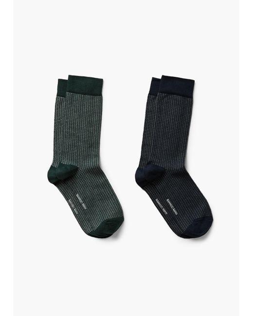 Mango - Blue 2 Pack Houndstooth Socks for Men - Lyst