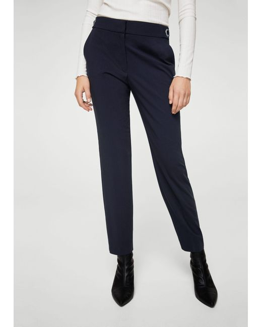Mango | Blue Trousers | Lyst