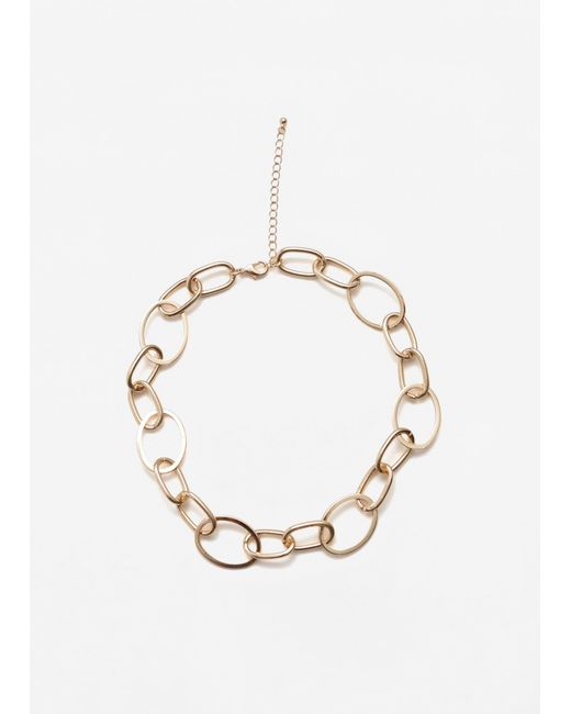Mango | Metallic Link Necklace | Lyst