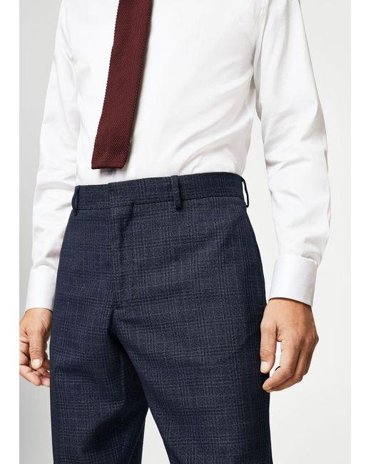 Mango   Black Regular-fit Check Suit Trousers   Lyst