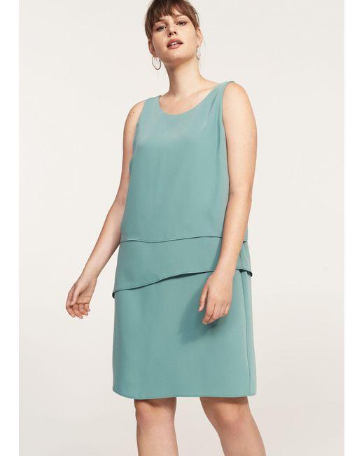 Violeta by Mango | Green Ruffled Midi Dress | Lyst