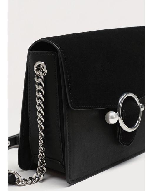 Violeta by Mango | Black Pearl-effect Buckle Cross-body Bag | Lyst