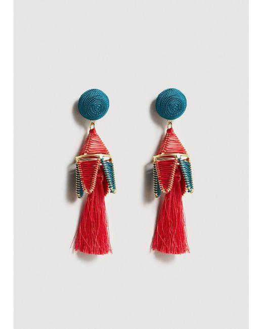 Mango - Red Earrings - Lyst