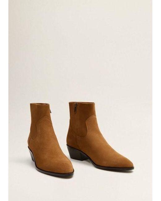 b1f34e1d57b Women's Brown Heel Leather Ankle Boot Cognac