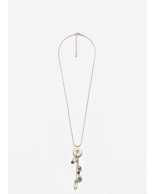 Mango   Metallic Mixed Pendants Necklace   Lyst