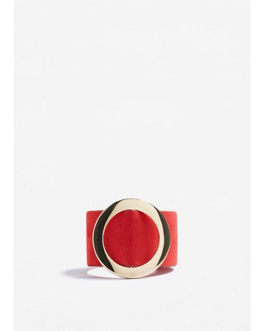 Mango | Red Metal Appliqué Bracelet | Lyst