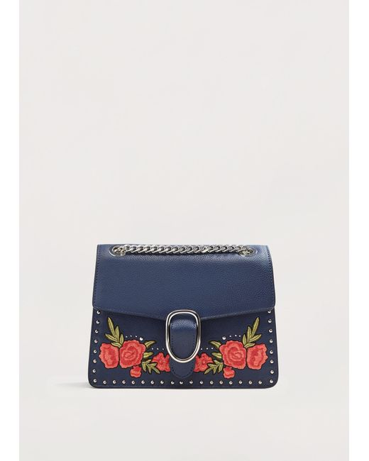 Violeta by Mango | Blue Floral Embroidery Bag | Lyst