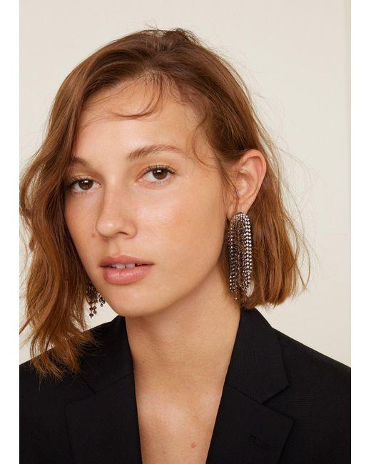 Mango - Metallic Rhinestone Crystal Earring - Lyst