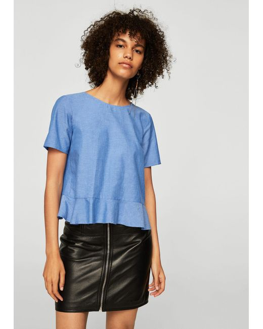 Mango - Blue Blouse - Lyst