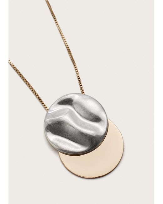 Violeta by Mango | Metallic Metal Pendant Necklace | Lyst