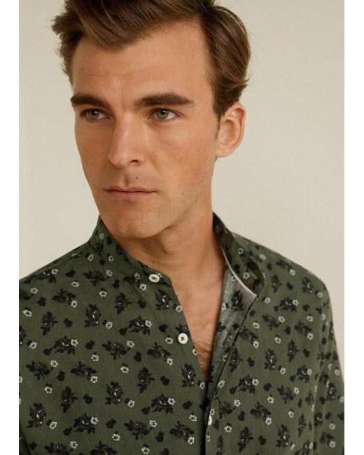 721432492ce2 ... Mango - Multicolor Regular-fit Cotton Linen-blend Shirt Khaki for Men -  Lyst