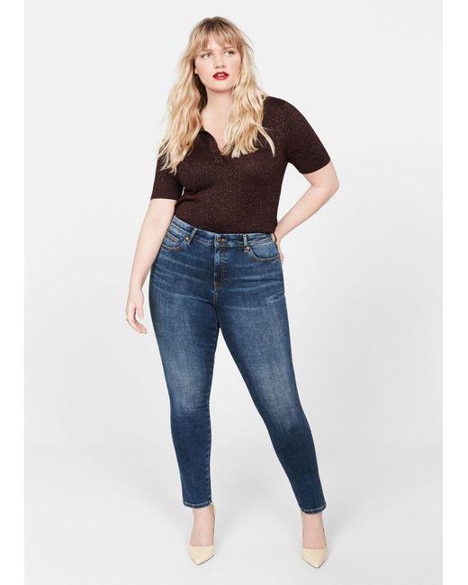 Violeta by Mango Blue Jeans Bi-stretch Push-up Irene
