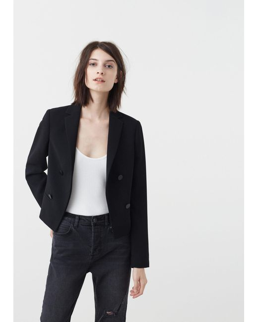 Mango | Black Classic Blazer Jacket | Lyst