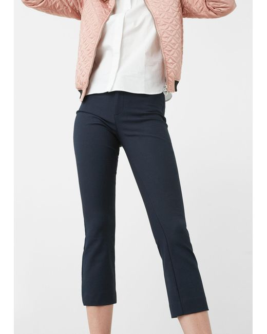 Mango | Blue Capri Trousers | Lyst