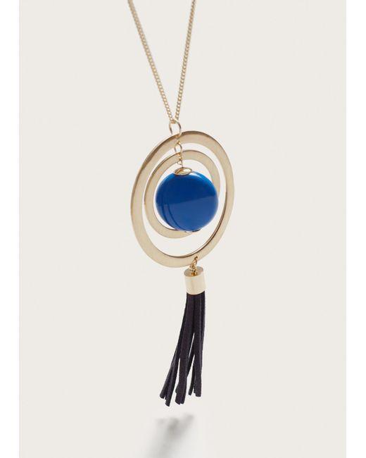 Violeta by Mango | Metallic Tassel Pendant Necklace | Lyst