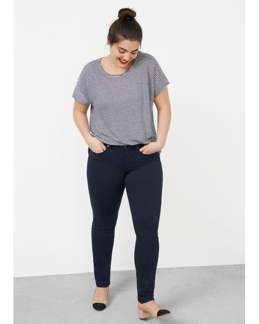 Violeta by Mango   Blue Slim-fit Julie Jeans   Lyst