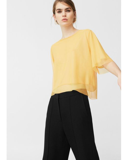 Mango | Multicolor Tulle T-shirt | Lyst