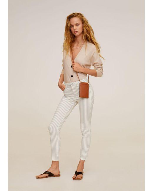 Mango Natural Crop Skinny Isa Jeans Beige
