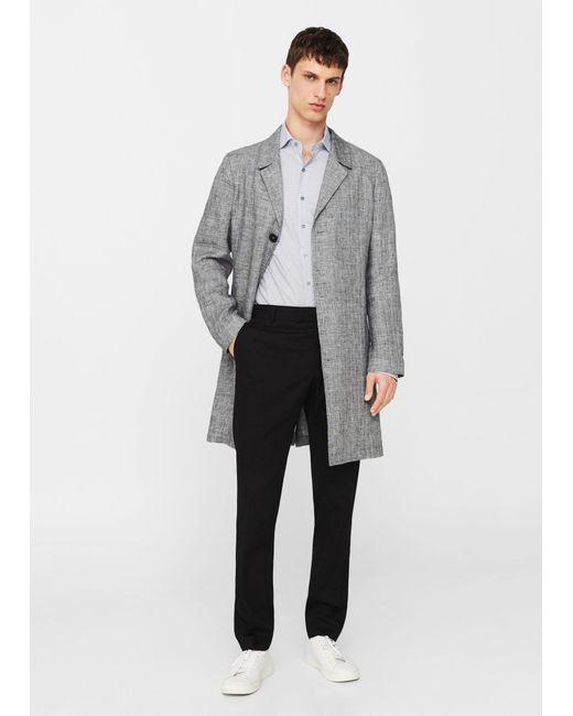 Mango | Gray Slim-fit Printed Cotton Shirt for Men | Lyst