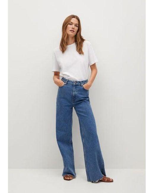 T-shirt coton bio Mango en coloris Blue