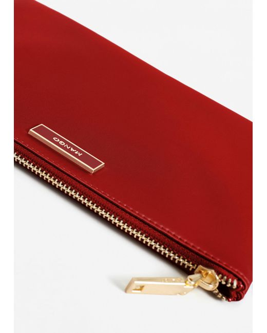 Mango | Red Satined Effect Cosmetic Bag | Lyst
