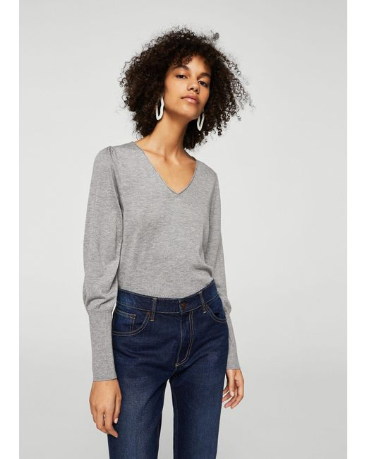 Mango - Gray Sweater - Lyst